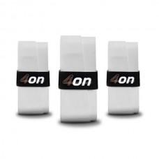4ON PADEL OVERGRIP WHITE 3-PACK